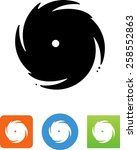 hurricane symbol for download.... | Shutterstock .eps vector #258552863