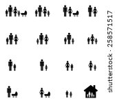 family icons set | Shutterstock .eps vector #258571517