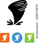 tornado icon   Shutterstock .eps vector #258572873