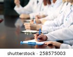 medical workers working in... | Shutterstock . vector #258575003