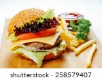 Cheeseburger With French Fries...