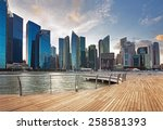 view of central business district in Singapore