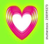 heart love valentine day card... | Shutterstock . vector #258595373