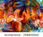 stained glass pattern series.... | Shutterstock . vector #258603263
