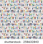 multiethnic casual people... | Shutterstock . vector #258632843