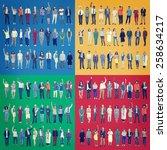jobs people diversity work... | Shutterstock . vector #258634217