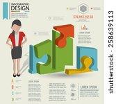 puzzle info graphic design... | Shutterstock .eps vector #258639113