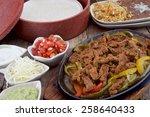 Beef Chicken And Shrimp Fajita...