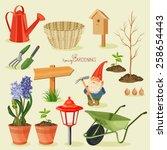 Spring Gardening. Garden Icon...