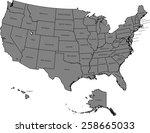 usa map | Shutterstock .eps vector #258665033
