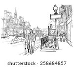 vector illustration of street...   Shutterstock .eps vector #258684857
