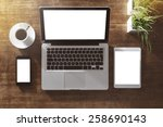 corporate identity mock up on... | Shutterstock . vector #258690143