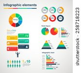 set of multicolored infographic ... | Shutterstock . vector #258718223