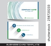 business card template or... | Shutterstock .eps vector #258720233