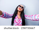 just me and no one else. happy... | Shutterstock . vector #258733667