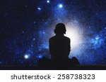 Girl Watching Space Stars Are - Fine Art prints