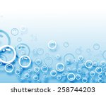 abstract blue bubbles... | Shutterstock .eps vector #258744203