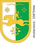 national emblem of abhkazia | Shutterstock .eps vector #25875466