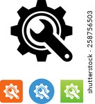 maintenance symbol for download.... | Shutterstock .eps vector #258756503