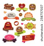 vector stickers labels and... | Shutterstock .eps vector #258757037