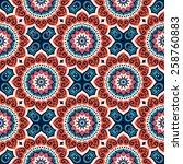 seamless pattern. vintage...   Shutterstock .eps vector #258760883
