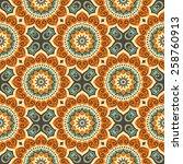 seamless pattern. vintage... | Shutterstock .eps vector #258760913