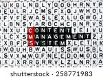 cubes with text cms  content... | Shutterstock . vector #258771983