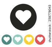 heart icon.vector illustration. | Shutterstock .eps vector #258778043