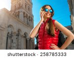 young woman dressed in... | Shutterstock . vector #258785333
