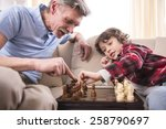 Young Boy Is Playing Chess Wit...