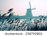 Traditional Dutch Windmills In...