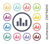 equalizer flat icons set. open...   Shutterstock . vector #258796043