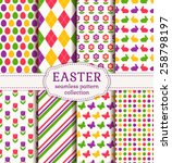 Happy Easter  Set Of Colorful...