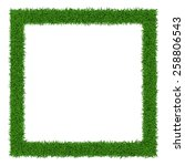 square grass frame  with copy... | Shutterstock .eps vector #258806543