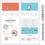 two page website design... | Shutterstock .eps vector #258845537
