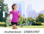 Run Woman Exercising In Centra...