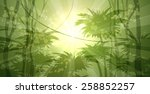 wild forest landscape drawn in... | Shutterstock . vector #258852257