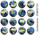 Earth Icons Set. Elements Of...