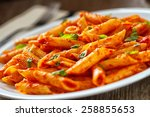 pasta with tomato sauce | Shutterstock . vector #258855653