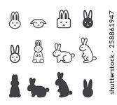 bunny icon | Shutterstock .eps vector #258861947