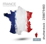 france map geometric polygonal... | Shutterstock .eps vector #258875483
