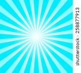 blue shiny starburst background.... | Shutterstock .eps vector #258877913
