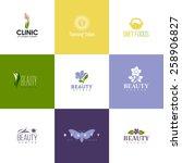 set of beauty logo templates.... | Shutterstock .eps vector #258906827
