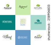 set of natural and organic... | Shutterstock .eps vector #258906833