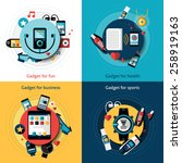 wearable technology set with... | Shutterstock .eps vector #258919163