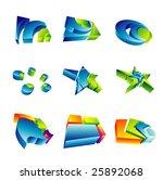 set of colorful 3d design... | Shutterstock . vector #25892068