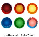 collection of round badges for... | Shutterstock .eps vector #258925697