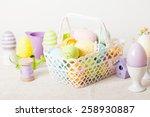 easter eggs in the white... | Shutterstock . vector #258930887