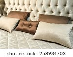 luxury hotel room setting with... | Shutterstock . vector #258934703