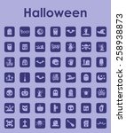 set of halloween simple icons | Shutterstock .eps vector #258938873